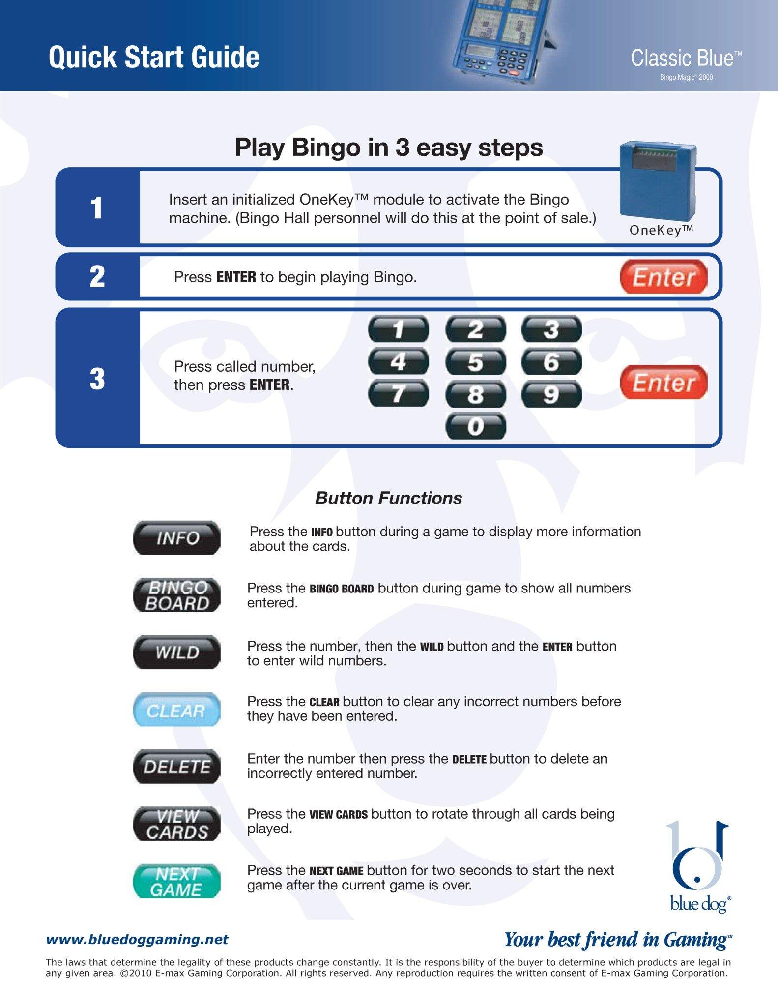 Classic Blue Quick Start Guide Equipment Manuals/Quick Start Guides