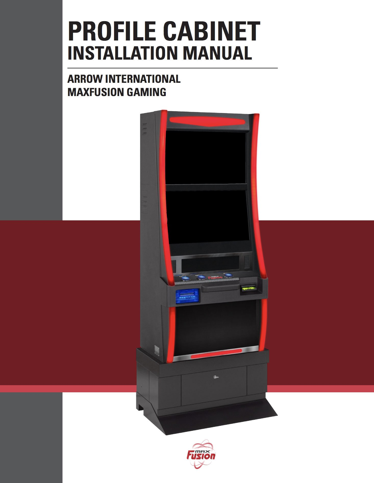 MaxFusion Profile Cabinet Manual Equipment Manuals