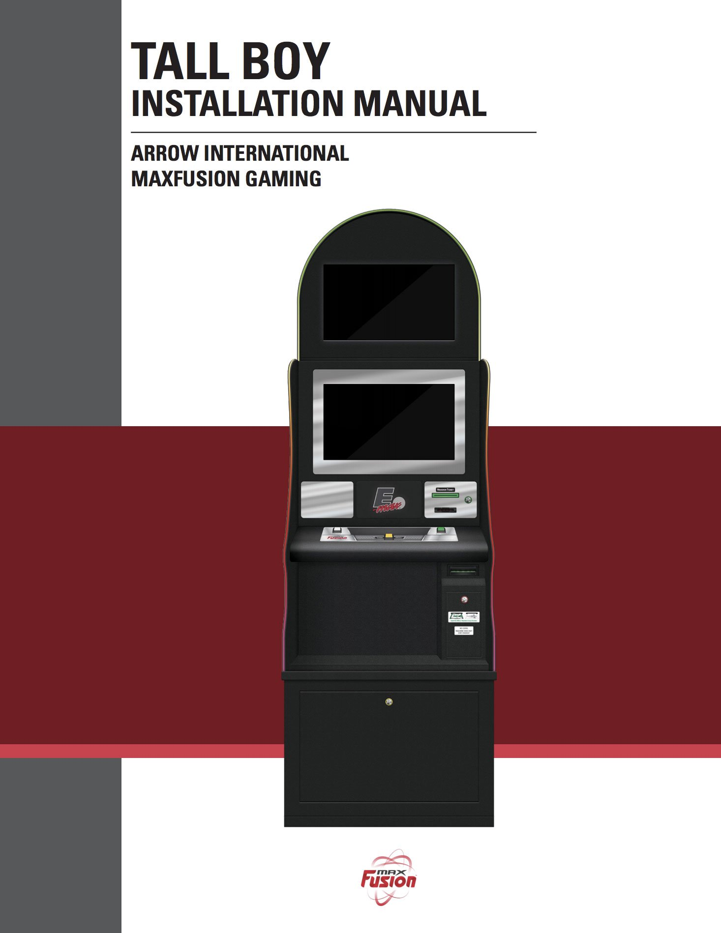 MaxFusion TallBoy Manual Equipment Manuals