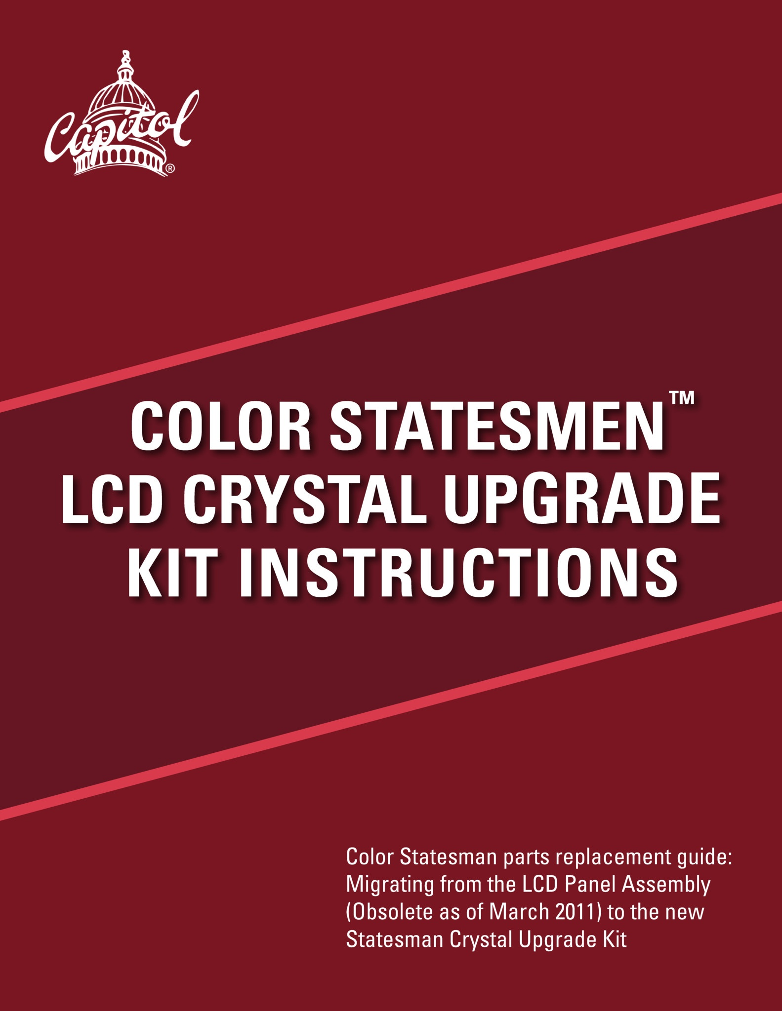 Statesman Crystal Upgrade Manual Equipment Manuals