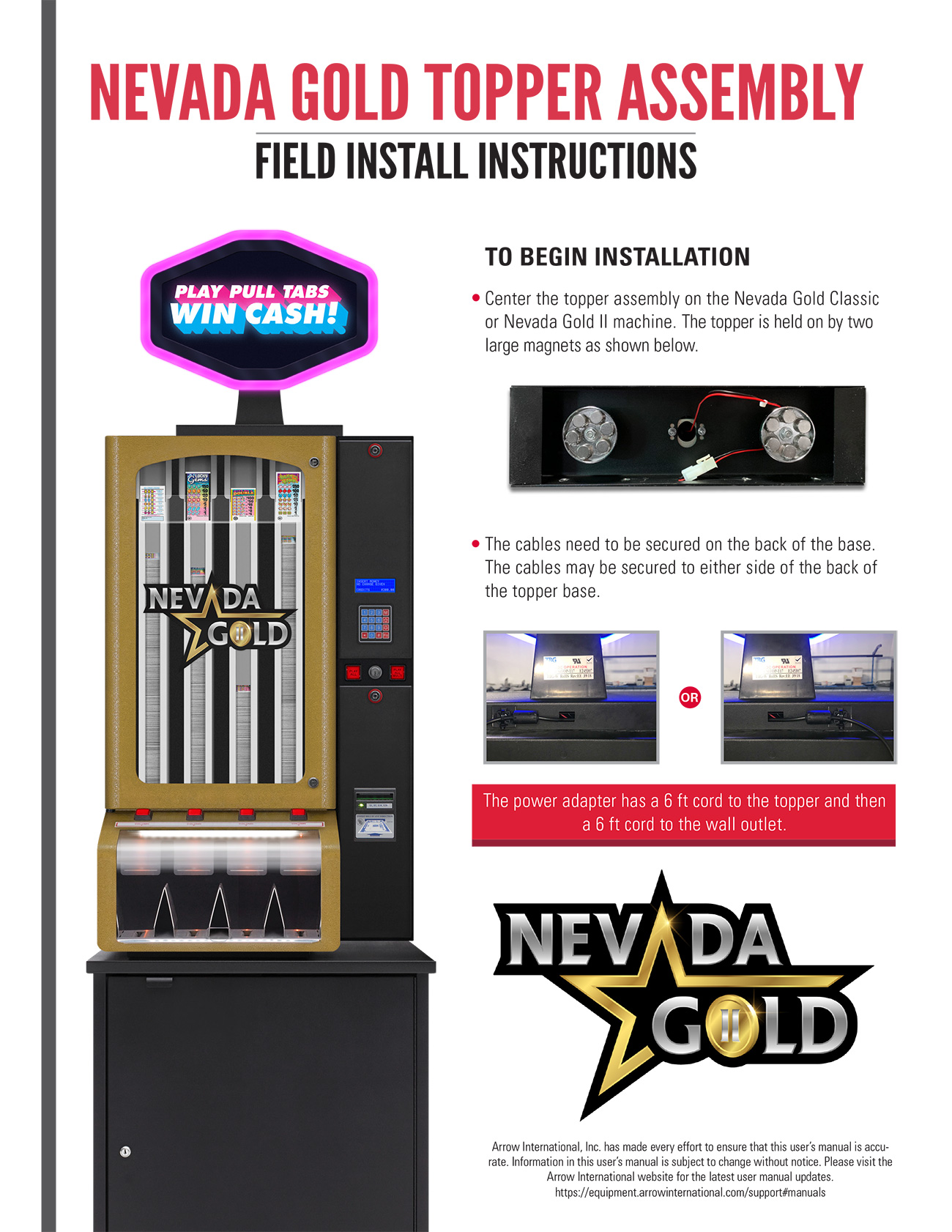Nevada Gold Topper Assembly Promotional Materials/Equipment Flyers & Brochures